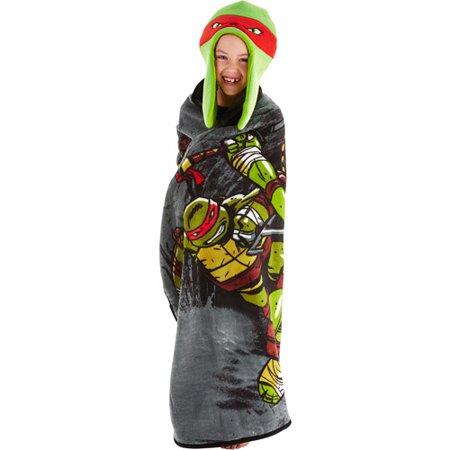 Nickelodeon Teenage Mutant Ninja Turtles Hoodiwink Cozy Hat and Throw Wrap Set