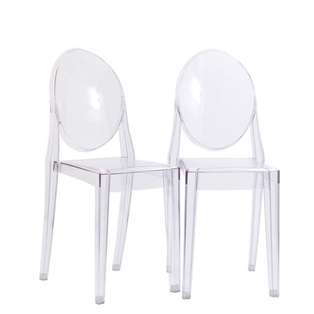 super popular 2c2af 16707 Modern Contemporary Kitchen Clear Dining Chairs Set of Two Clear (Outdoor  and Indoor)