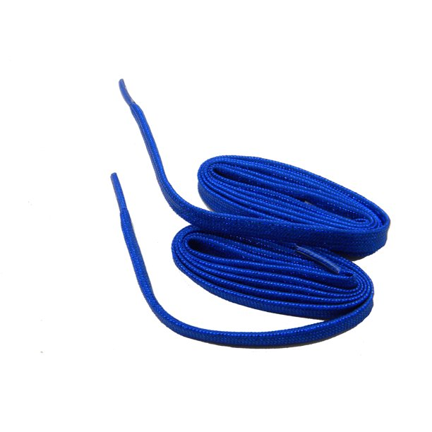 36 Inch 91 cm 2 Pair Pack of Royal Blue Sparkling Athletic shoelaces; 8mm wide flat dance/trainer laces