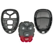 Keyless2Go New Replacement Shell Case and 5 Button Pad for Remote Key Fob with FCC KOBGT04A - SHELL ONLY