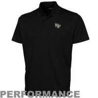 Wake Forest Demon Deacons Omega Solid Mesh Tech Performance Polo - Black