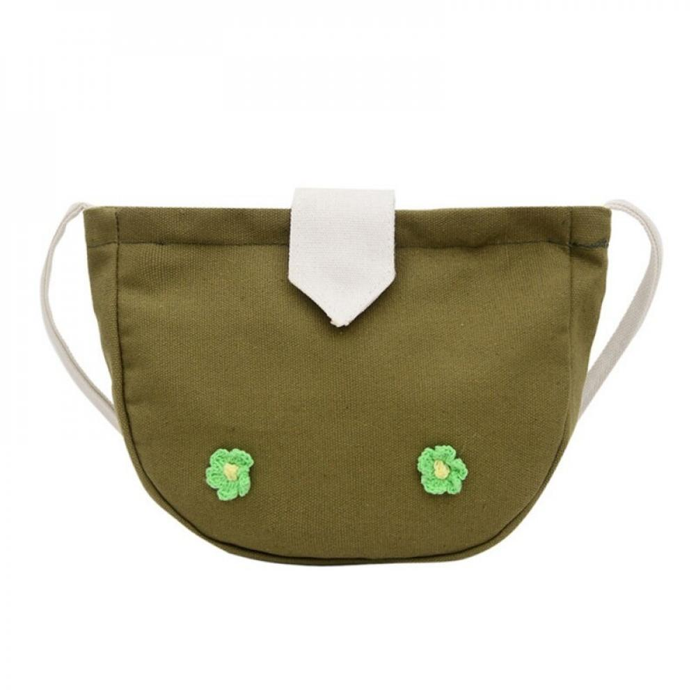 Strings on Wings Embroidered Canvas Field Bag