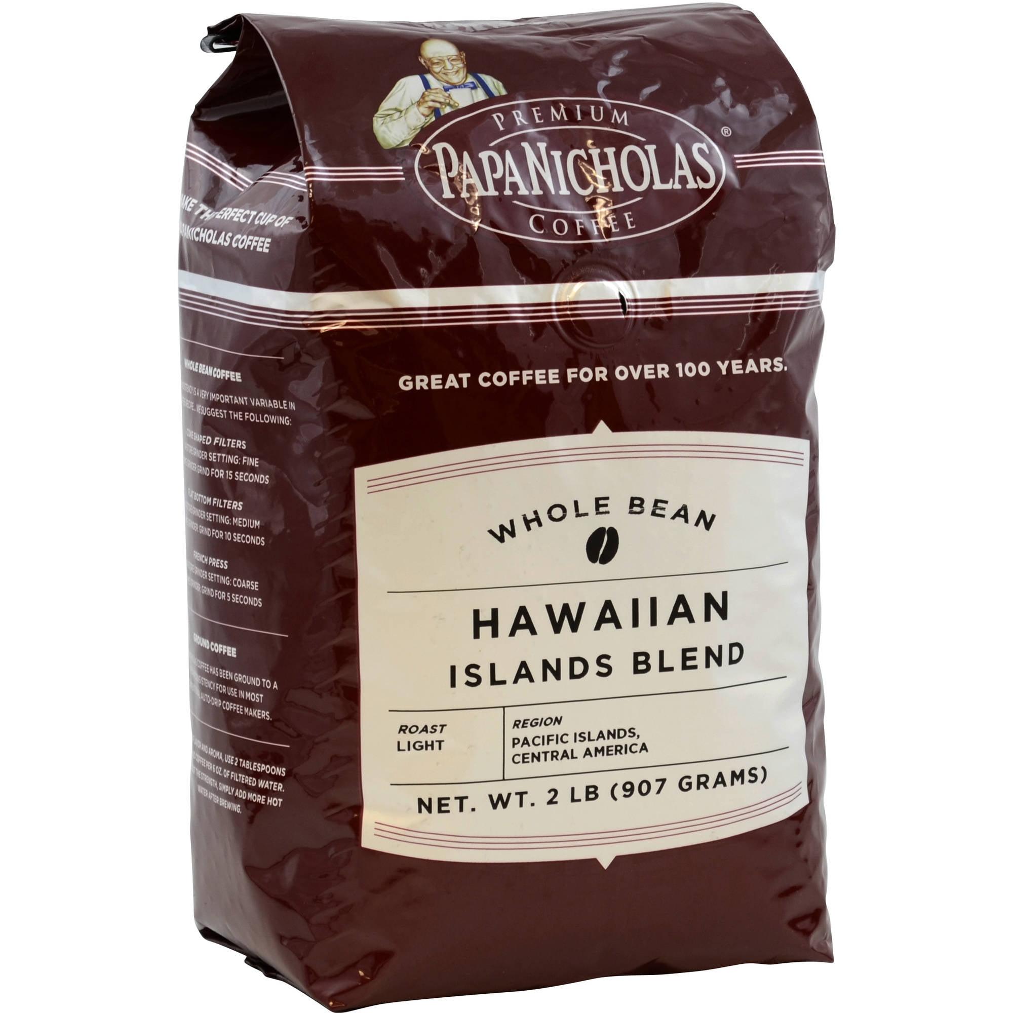 PapaNicholas Coffee Hawaiian Islands Blend Whole Bean Coffee, 2 lbs