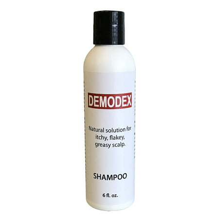 DEMODEX™ - Extra Strength Natural Shampoo For Itchy, Flaky, Greasy Scalp. Kill Mites, Stop Head Itching and Irritation. For Demodecosis Prone Scalp, Face and Body - 6.0