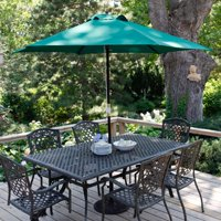 Coral Coast Key Largo 9 ft. Wood Spun-Poly Market Umbrella with Base