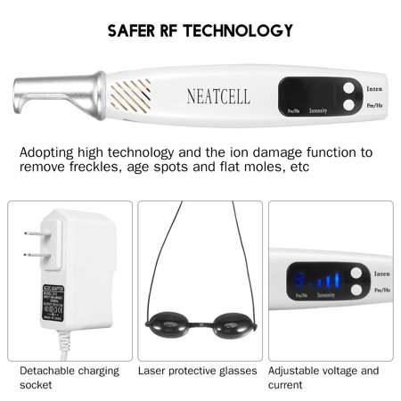 WALFRONT Handheld Picosecond Laser Pen Tattoo Scar Freckle Removal Machine Skin Beauty Device, Spot Removal Laser Pen,Picosecond Laser Pen - image 3 de 9
