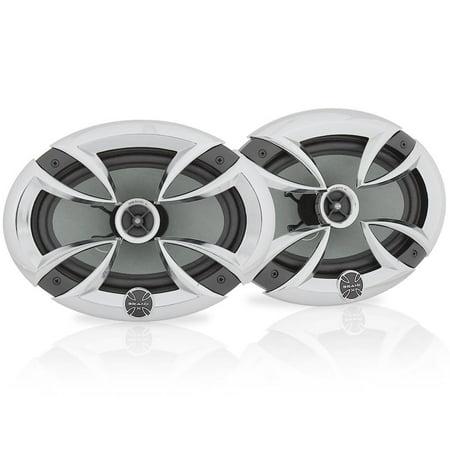 BRAND-X L69CX - 6'' x 9'' -In. Car Stereo Speaker Pair | Universal OEM Replacement 3-Way Pro Audio Vehicle Speakers (400 Watt