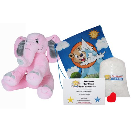 Make Your Own Stuffed Animal Pink Elephant Kit 16