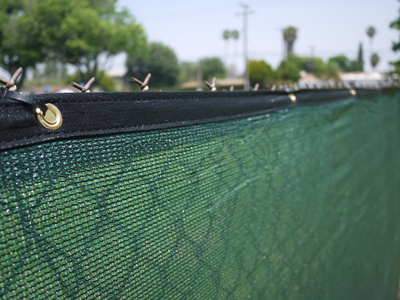Privacy screen for chain link fences - 4 X 50 Fence Wind Privacy Screen Fabric Mesh Brass Grommets 4x50 Walmart Com