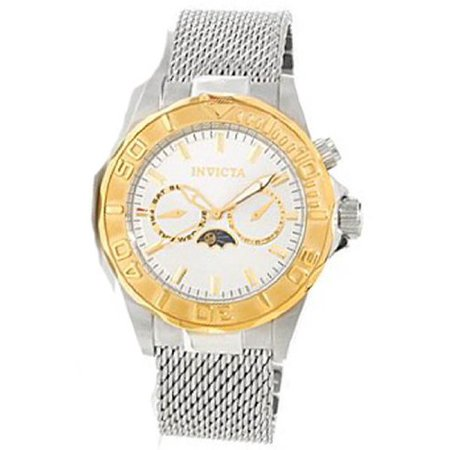 Invicta Pro Diver Moonphase Silver Dial Stainless Steel Mens Watch 80319