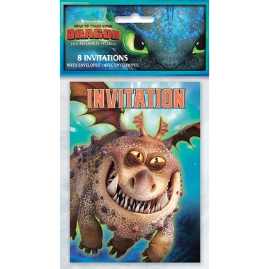 Print Your Own Invitations (How to Train Your Dragon: The Hidden World - Party Invitations [8 per)