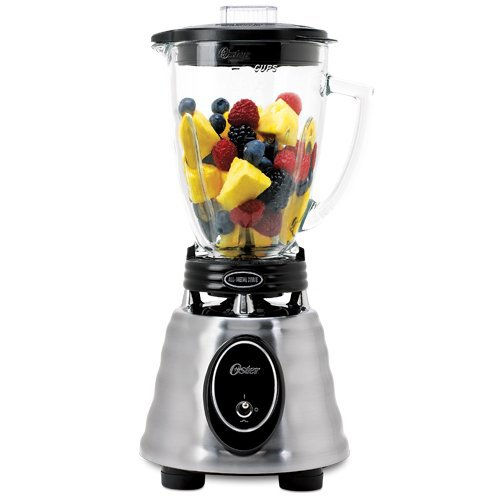 Oster BPCT02-BA0-000 6-Cup Glass Jar 2-Speed Toggle Beehive Blender, Brushed Stainless, Ship from America
