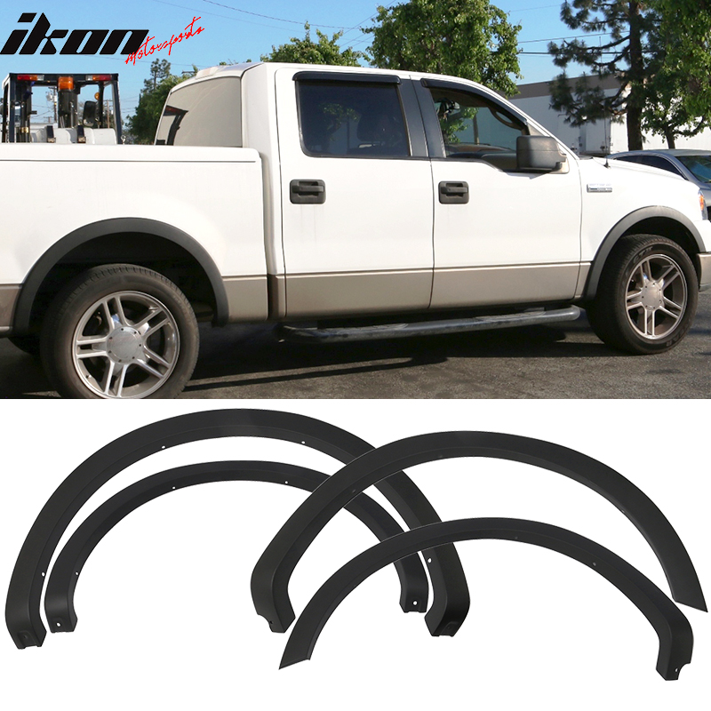 04-08 Ford F150 4PC Textured Black OE Style Fender Flares Wheel Cover PP by ikonmotorsports