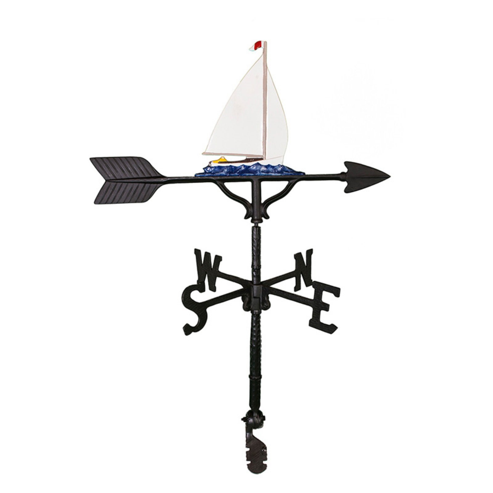 Color Sailboat Weathervane 32 in. by Montague Metal Products