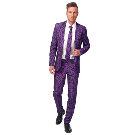 Suitmeister Men's Purple Tiger Animal Suit