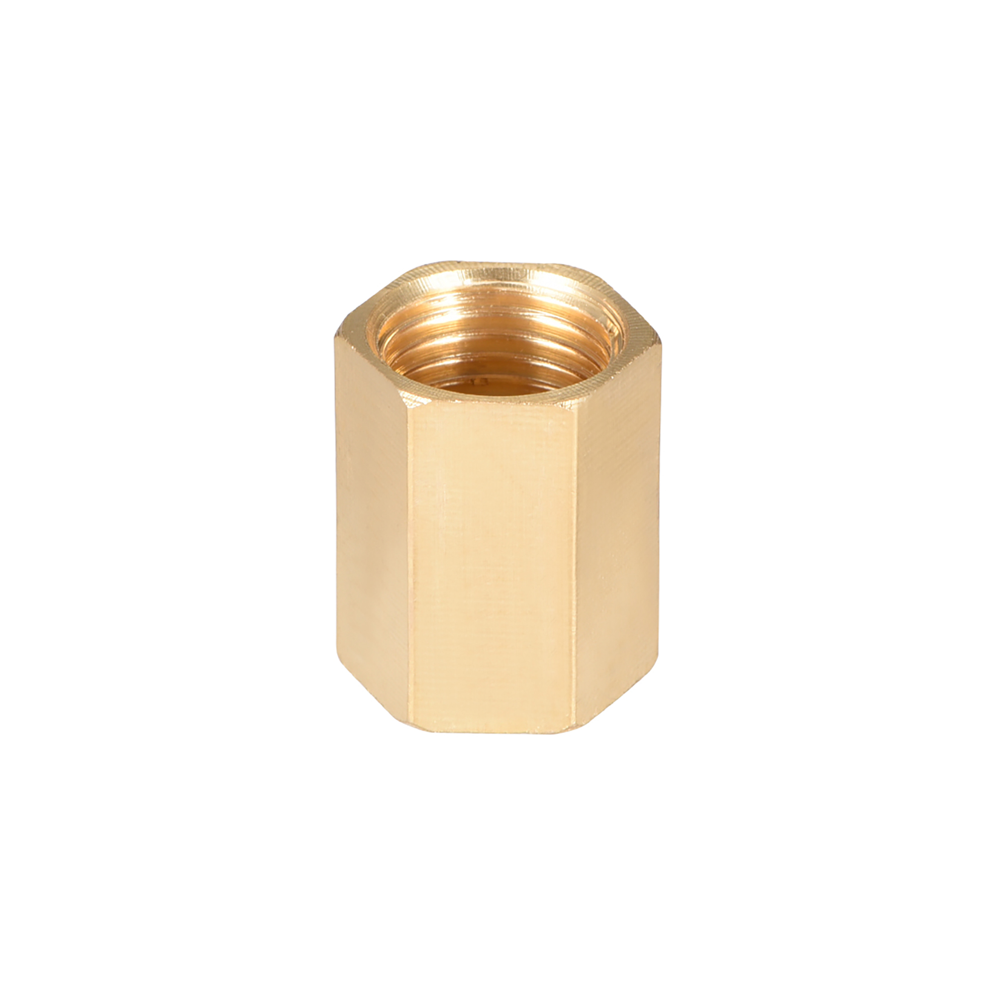 """Brass Pipe Fitting, 1/4"""" G Female Thread Straight Brass Hex Rod Pipe Fitting Coupling - image 4 de 4"""