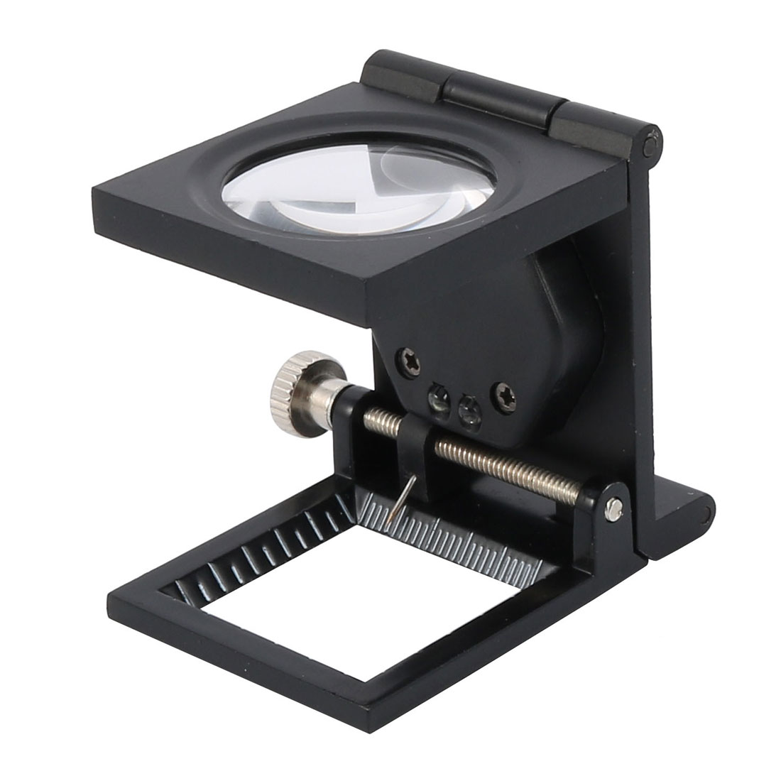 Folding Magnifier Illuminated Magnifier Magnifying Glass Loupe 10X w  Light