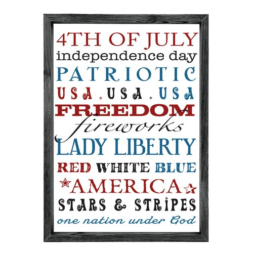 Forest Creations 4th of July Patriotic Textual Art