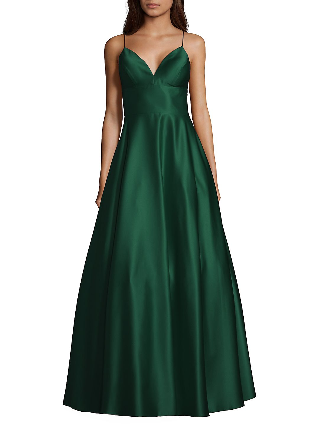V-Neck Satin Gown
