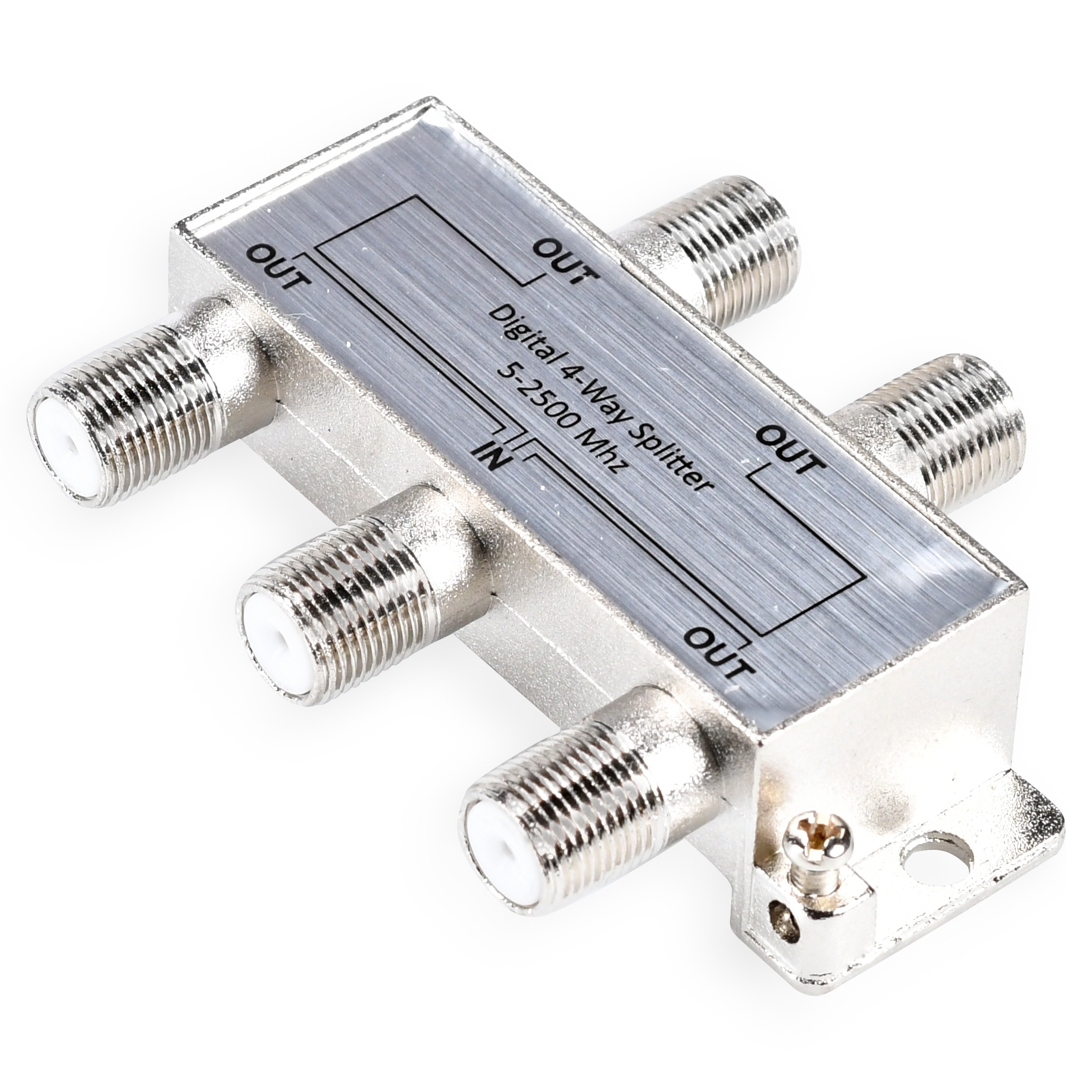 Onn Digital Coaxial 4-Way Cable Splitter