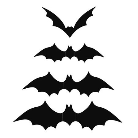 Halloween Bat Decoration (KABOER 12Pcs/Set Halloween Three-Dimensional Bat Decoration Stickers - Pausseo Household Room Floor Mural Removable Clings Party Decor Decal Window Door Cover Carved Sticking Horror Wall)