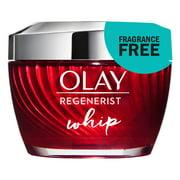 Olay Regenerist Whip Face Cream Moisturizer, Fragrance-Free, 1.7 oz