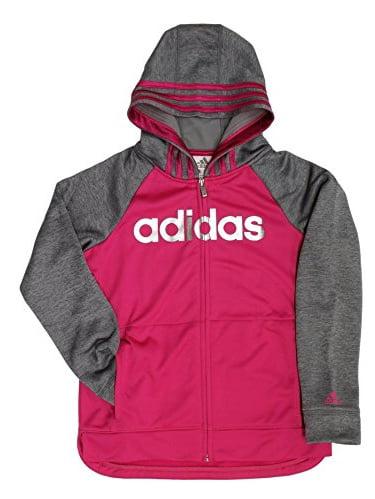 adidas Active Full Zip Hoodie for Girls (Pink, Medium/10-12)