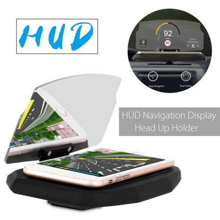 6.5 inch HUD Screen Head Up Display Car GPS Navigation Mobile Phone Holder for iPhone for Samsung