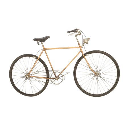 Decmode Modern 24 X 39 Inch Iron Orange Bicycle Wall Decor - Walmart.com