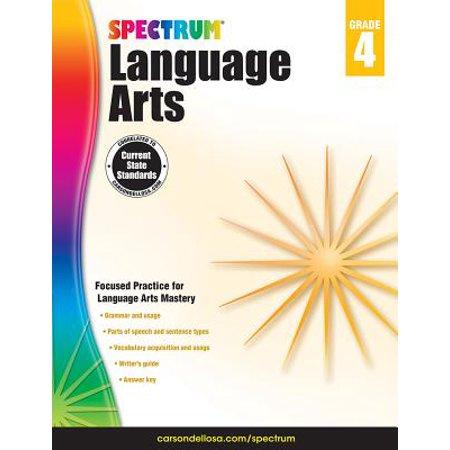 Carson Dellosa CD-704591 Spectrum Language Arts Gr 4