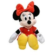"Girls Minnie Mouse 11"" Plush Doll Beanbag Red Dress"