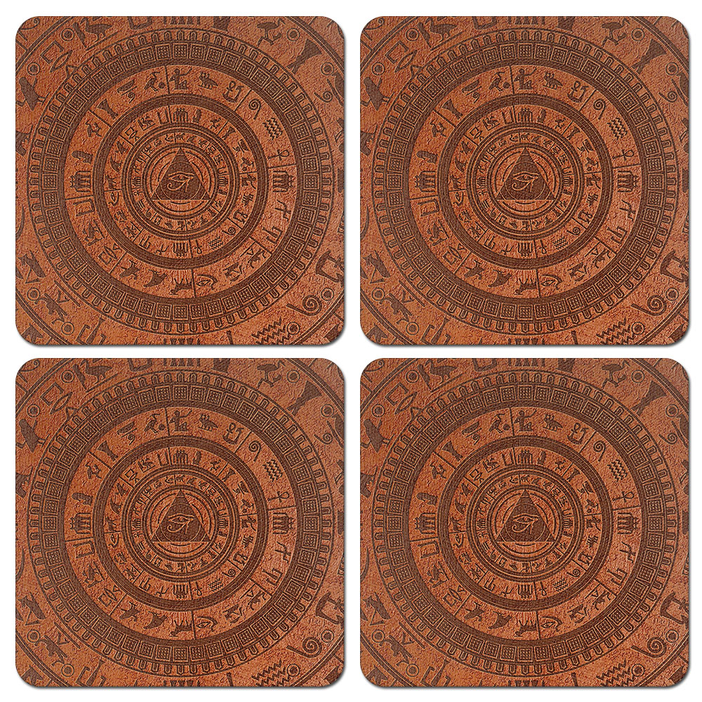 CARIBOU Square Fabric Coasters for Drinks, Set of 4pcs ...