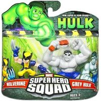 Super Hero Squad Grey Hulk & Wolverine Action Figure 2-Pack