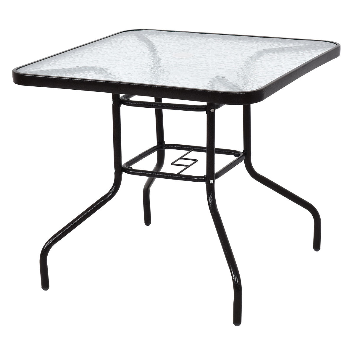 Costway 31 1/2u0027u0027 Patio Square Table Steel Frame Dining Table Patio Furniture