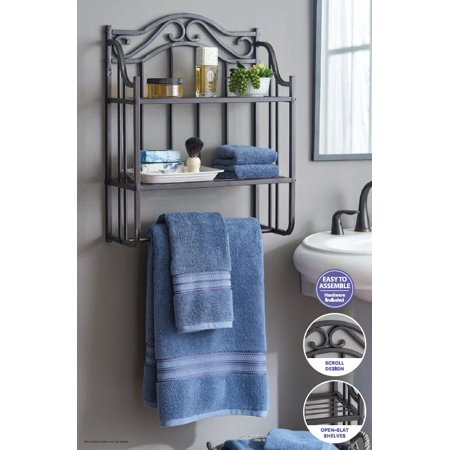 Better Homes & Gardens Bathroom Wall Shelf, Oil Rubbed Bronze ()