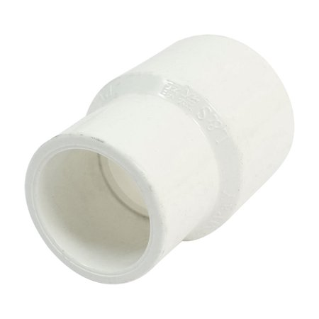 Image of Unique Bargains White PVC Pipe Reducing Coupling Straight Connector Fitting 32 x 25mm
