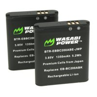 Wasabi Power Battery (2-Pack) for Samsung EB-BC200 and Samsung Gear 360