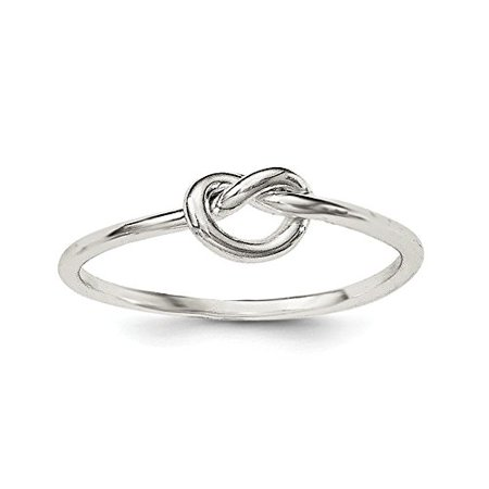 .925 Sterling Silver Knot Ring, Size 7