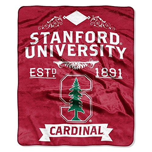 """NCAA Stanford Cardinal Plush Raschel Throw Blanket, Cardinal, 50 x 60"""