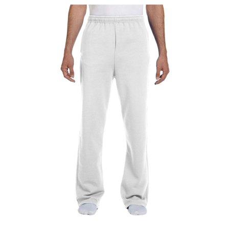 Jerzees Men's Elastic Waist Open Bottom Pocket Sweatpant, Style - Elastic Waist Sweatpants