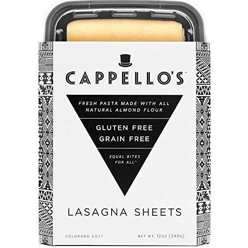 Cappellos Grain Free Gluten Free Lasagna, 12 Ounce -- 6 per case. by Cappellos