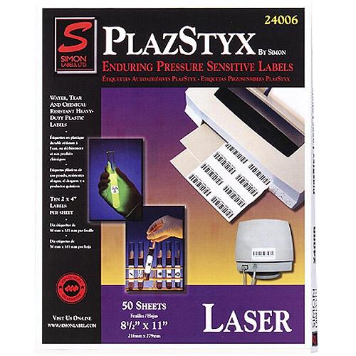SJ Paper Plazstyx Pressure Sensitive Laser Labels