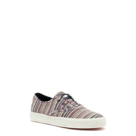 Rocket Dog Afina Striped Blue Multi Slip On Sneaker (Women's)