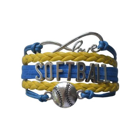 Girls Stinger Softball - Softball Bracelet- Girls Softball Jewelry - Perfect Softball Player, Softball Teams and Softball Coaches Gitfts
