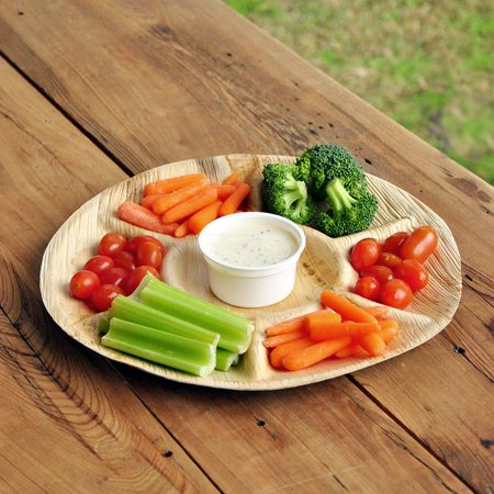 Our LIttle Bunny is Turning One Party Supplies (1 Tray). Palm Leaf Vegetable Tray. 7 Compartment Tray. - Veggie Tray For Halloween