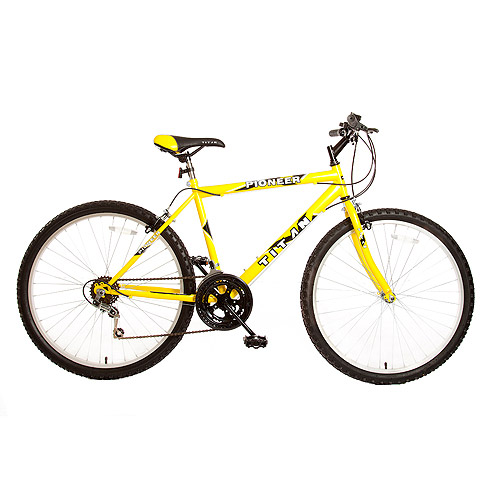 "26"" Titan Pioneer Men's Mountain Bike, Yellow"