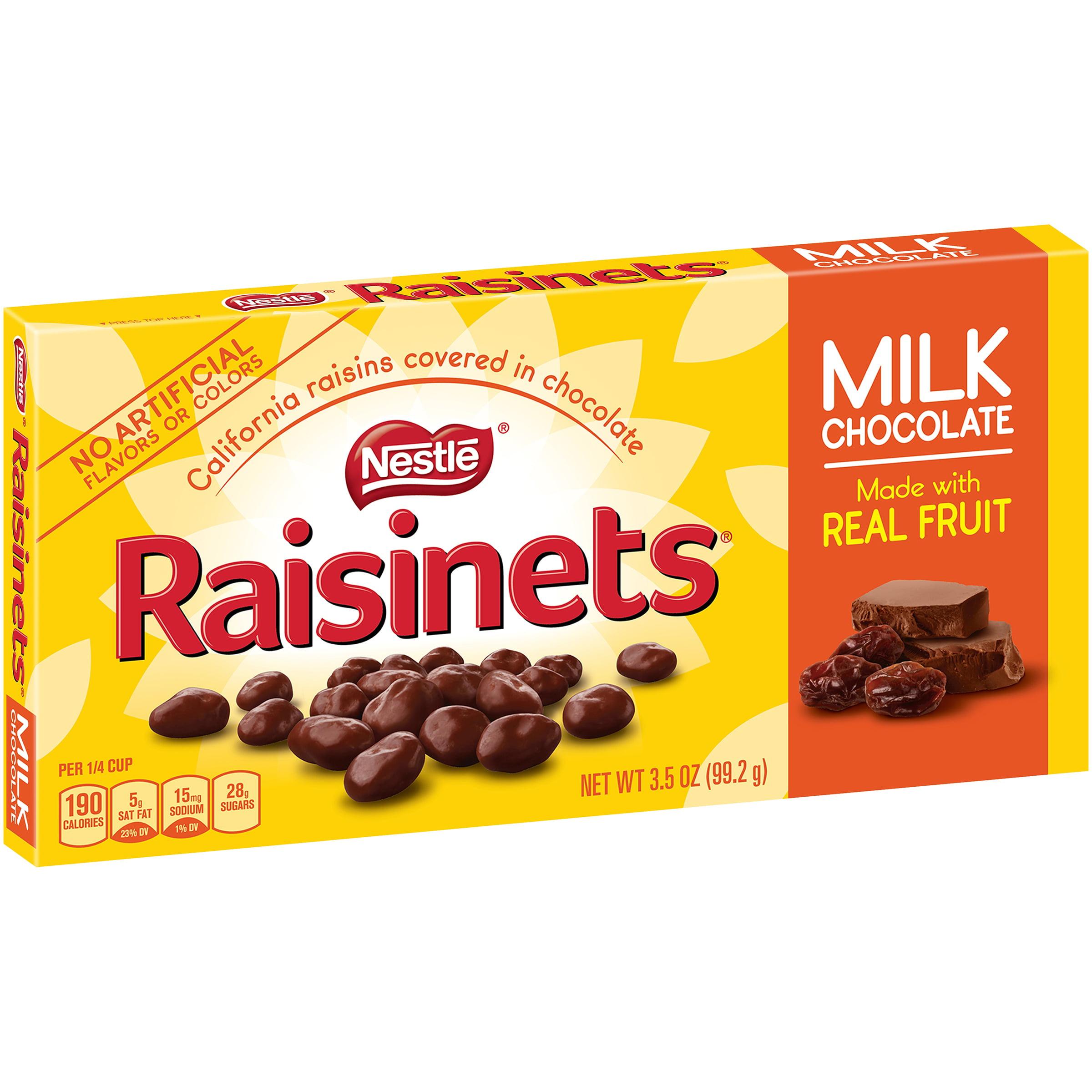RAISINETS Milk Chocolate Covered Raisins 3.5 oz. Video Box ...