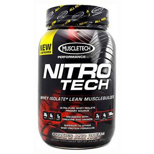 MuscleTech Nitro-Tech, Cookies And Cream, 2 LB
