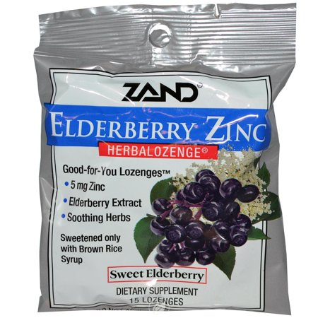 Zand HerbaLozenge Elderberry Zinc 15 Lozenge, Pack of 2