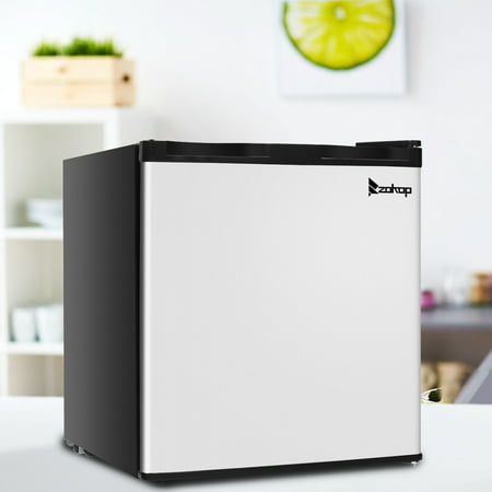 ZOKOP 1.1 cu. ft. Mini Size Portable Upright Freezer with Stainless Steel Door Frozen for Family Home Use ()